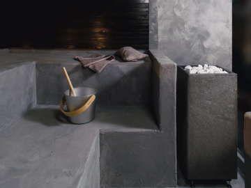 Sisustus - sauna - veistoksellista muotoilua