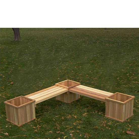 Garden Bench With Flower Box Google Search