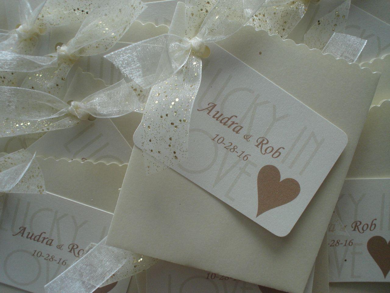 Gold Foil Confetti Theme | Lottery Ticket Wedding Favor | Pinterest ...