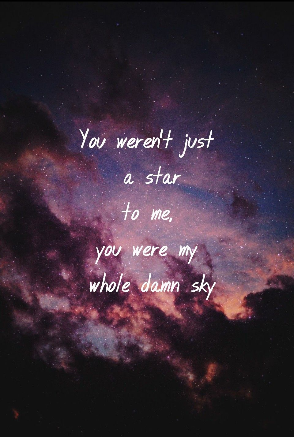 Sky Quote Sky Stars Quote Tumblr Background Wallpaper