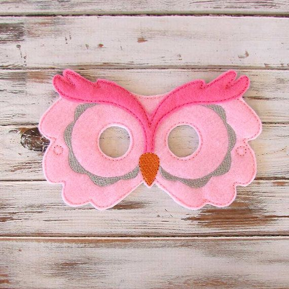 Owl Mask in Pink