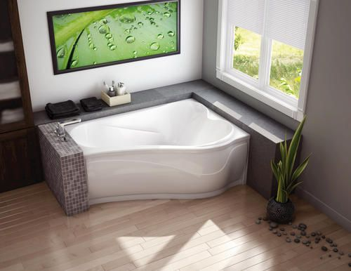 Maax Murmur 60 X 43 Asy Corner Soaker Bathtub Left Drain