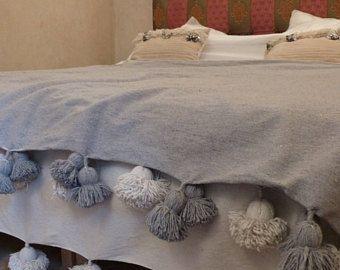 Marokkanische Decken marokkanische pom pom decken werfen decken coverbed baumwolle