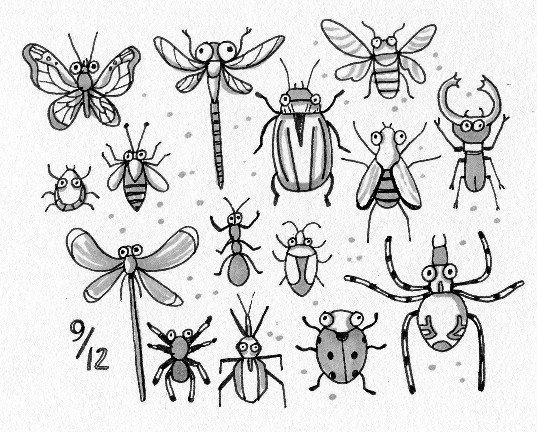 Bug Doodle Illustrations Doodle Doodle Doodles Illustration
