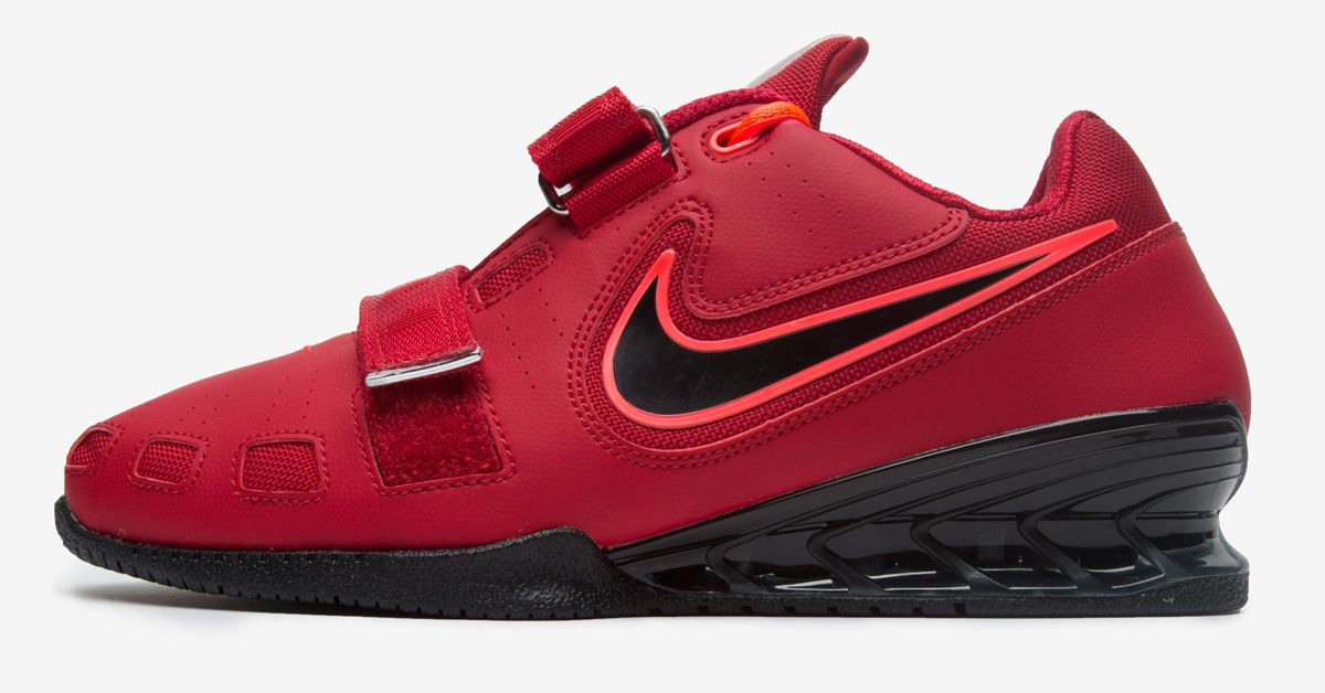 637705e11d21 The Nike Romaleos 2 in Red   Hyper Crimson   Black. Nike improved this high  end…