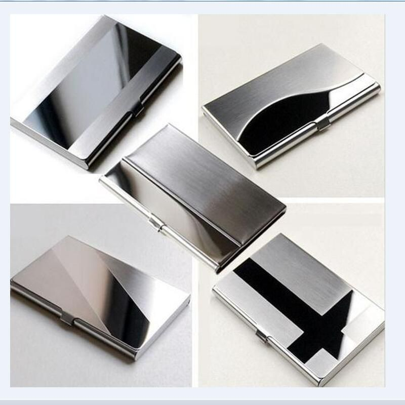 Card Holders Waterproof Stainless Steel Silver Aluminium Metal Case ...