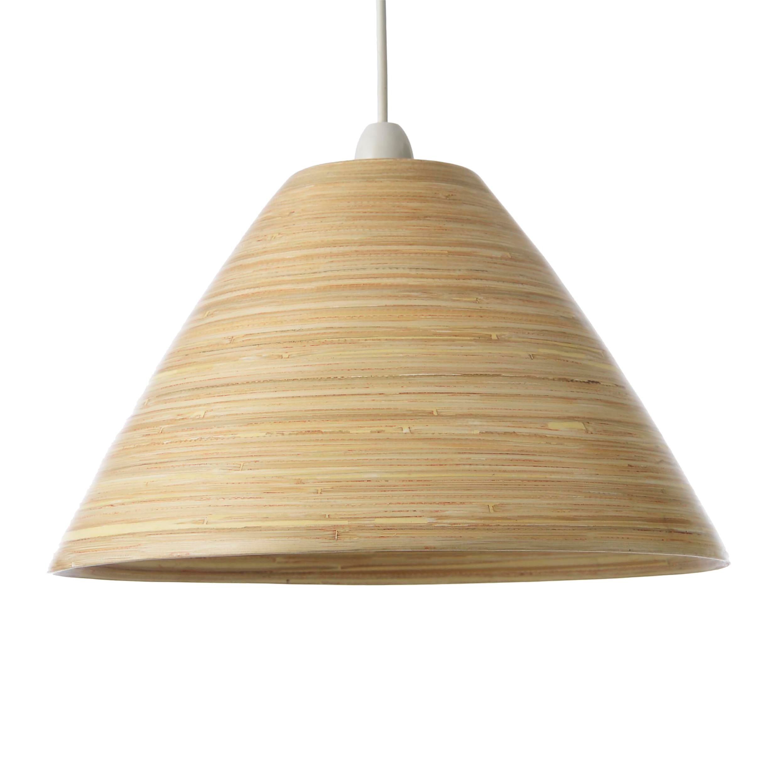 Colours cruse natural bamboo lamp shade d350mm natural lamps colours cruse natural lamp shade d35cm departments diy at bq aloadofball Gallery