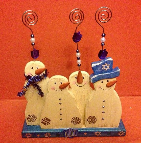 Dreidel Dudes Snowmen Photograph Display | A CREATIVE