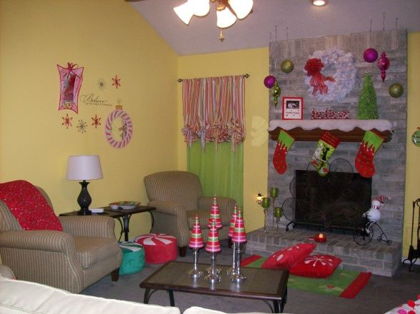 My WhoVille, My Living Room All Dressed Up For Santa In Bright U0026 Cheerfull  Colors., , Living Rooms Design
