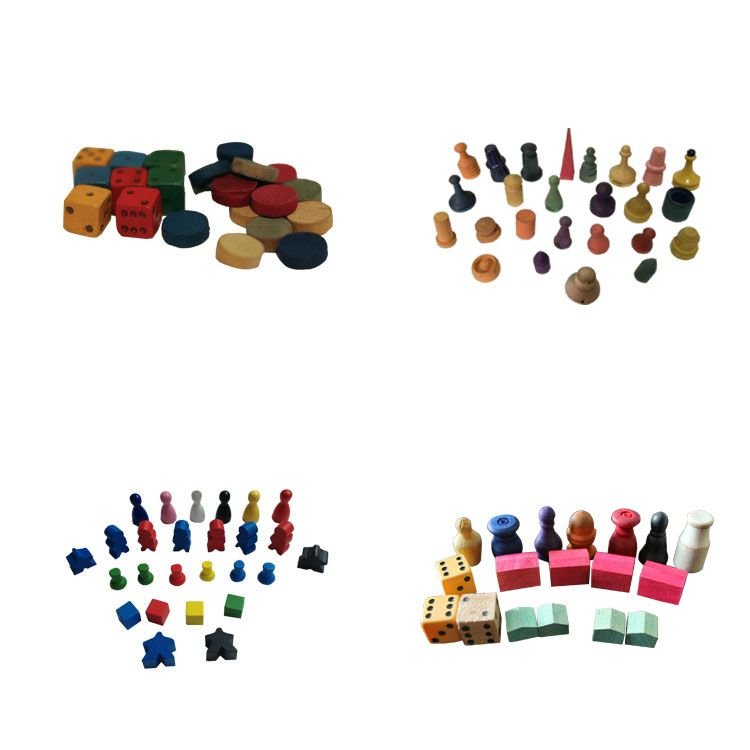 custom wooden board game playing tokens piece maker (With