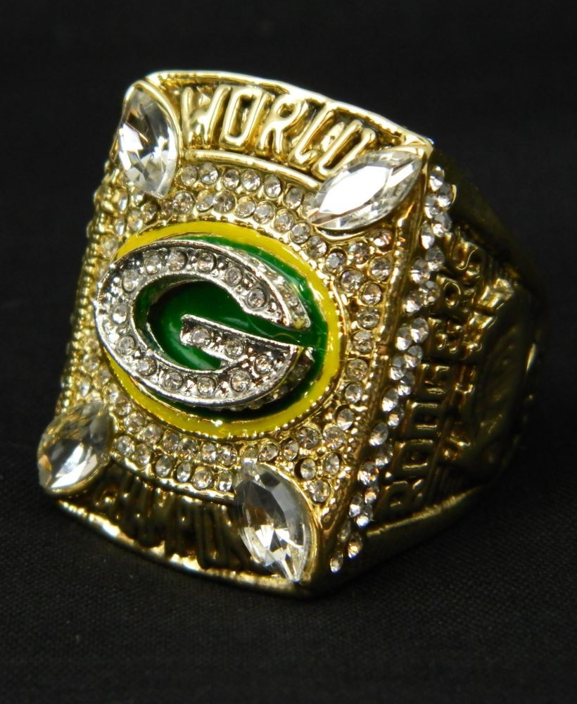 Aaron Rodgers 2010 Replica Superbowl Ring Green Bay Packers Championship Size 13 Mancave Fan Nfl Me Super Bowl Rings Green Bay Packers Championships Mens Gifts