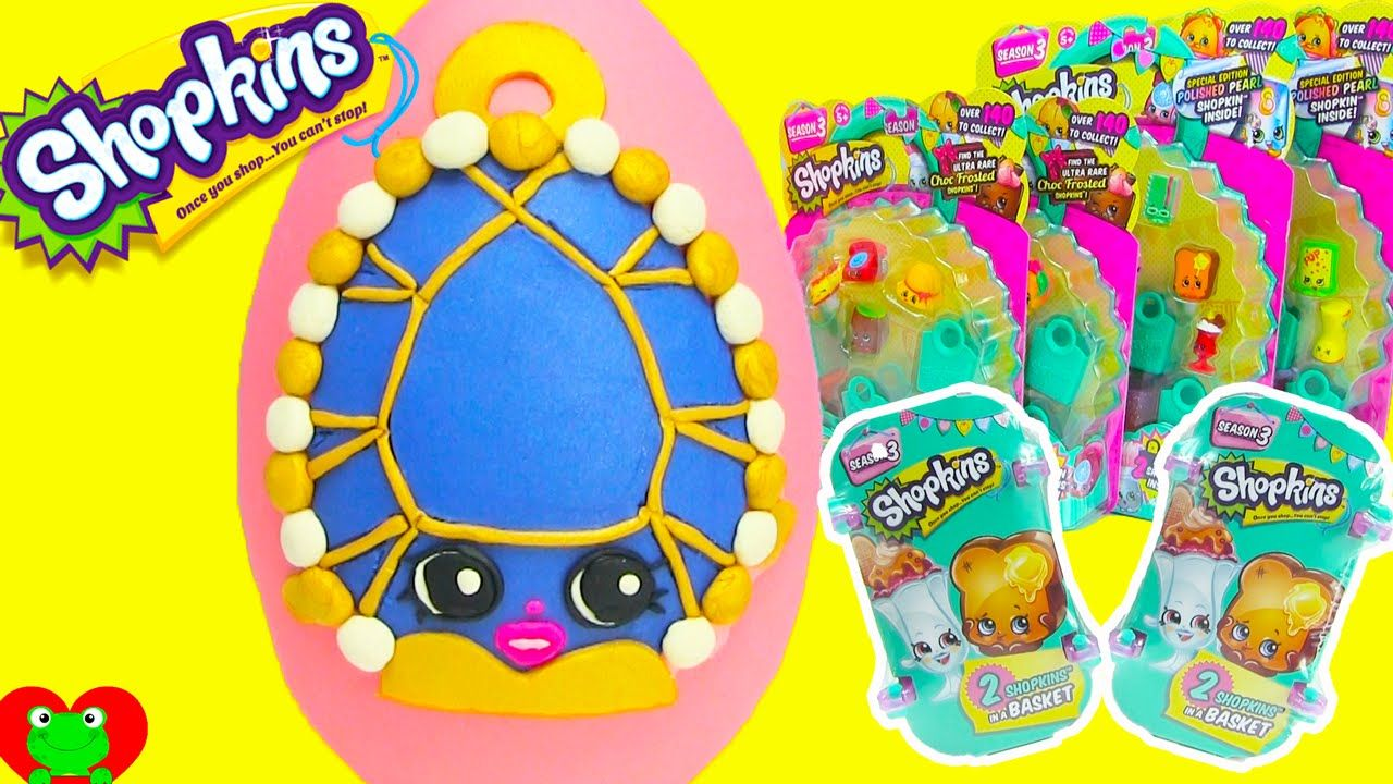 Shopkins Season 3 Limited Edition Brenda Brooch Play Doh Surprise Egg