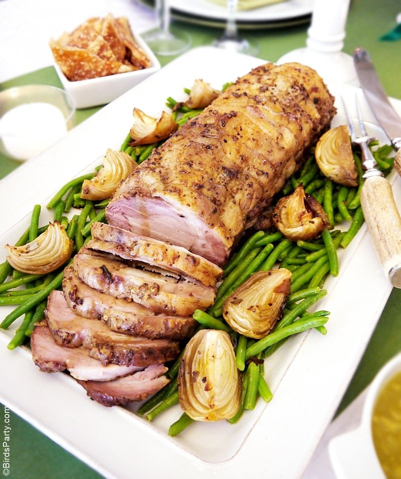 Simple Dinner Party Menu Ideas Part - 37: Roast Pork With Herb U0026 Mustard Crust Recipe. Dinner Party ...