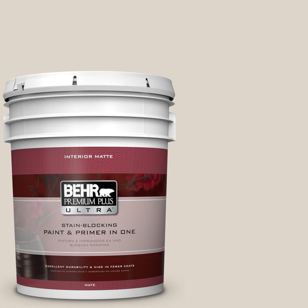 BEHR Premium Plus Ultra Home Decorators Collection 5 gal. #hdc-CT-19 Windrush Flat/Matte Interior Paint