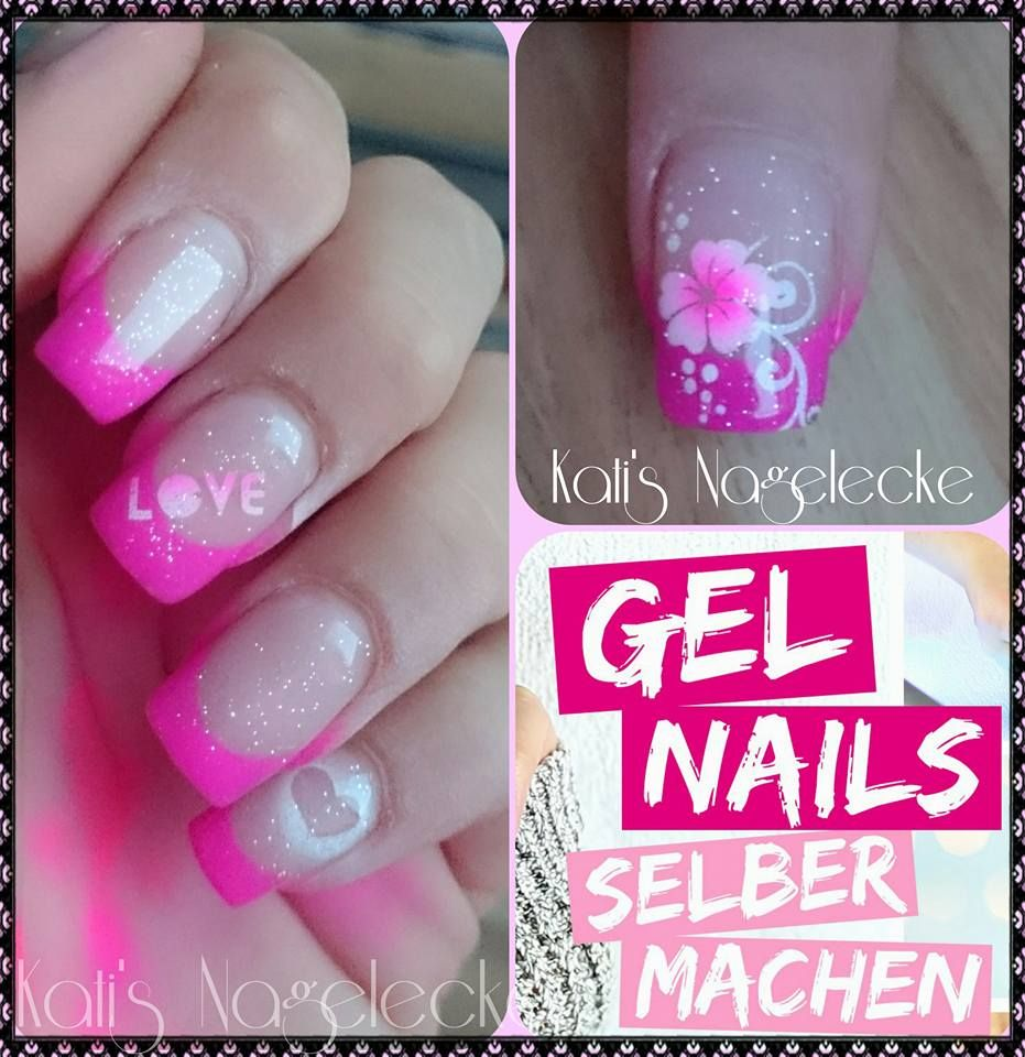 My Nais #gelnails #mynails #nails #nageldesign #gel #pink #glitzer ...