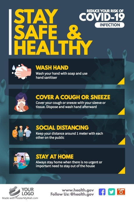 Submit Design Template Postermywall In 2020 Health And Safety Poster Health And Safety How To Stay Healthy