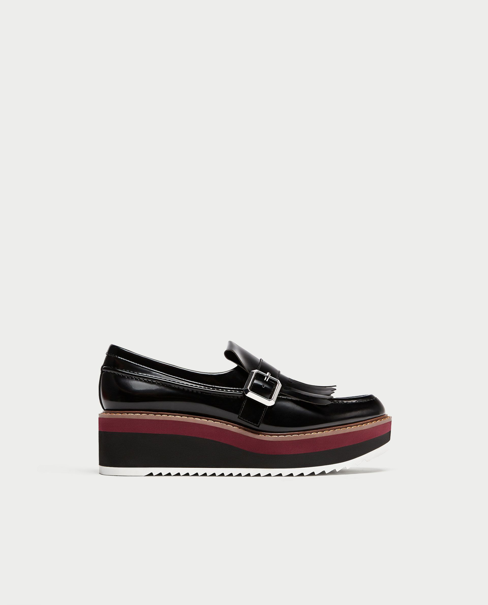 b7cb0d0bfb9 PLATFORM LOAFERS WITH FRINGE from Zara