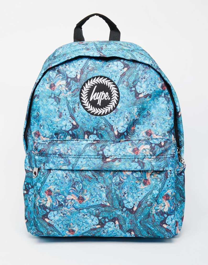 Hype Backpack in Marble Print  5c5b3a01eff13
