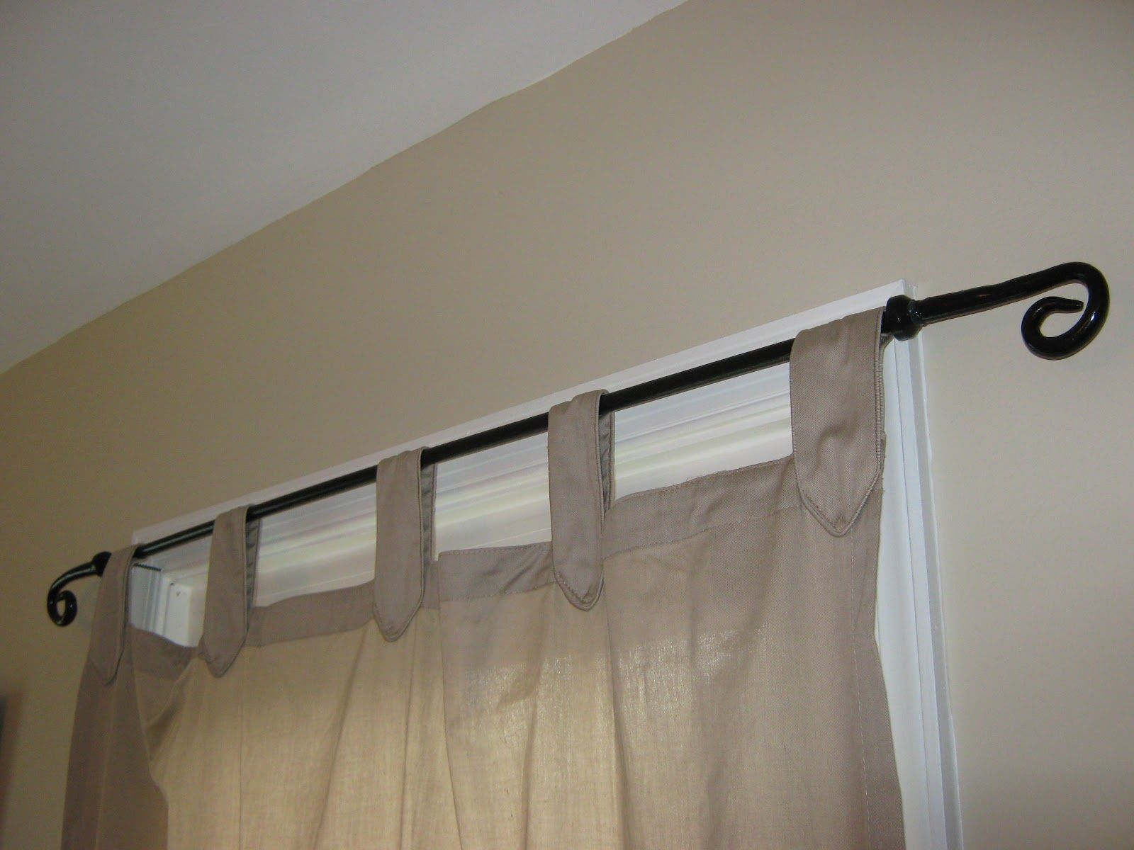 wrought iron curtain rods iron