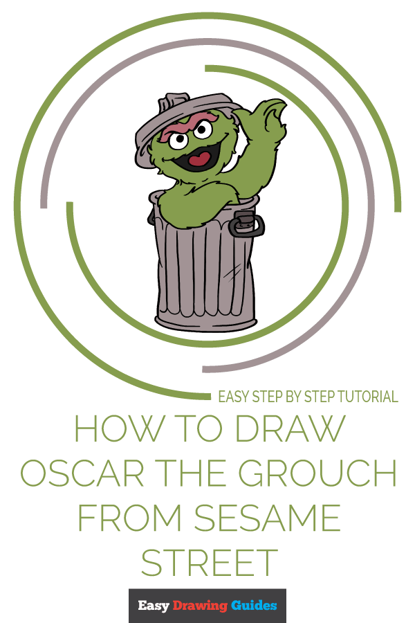 How To Draw Oscar The Grouch From Sesame Street Easy