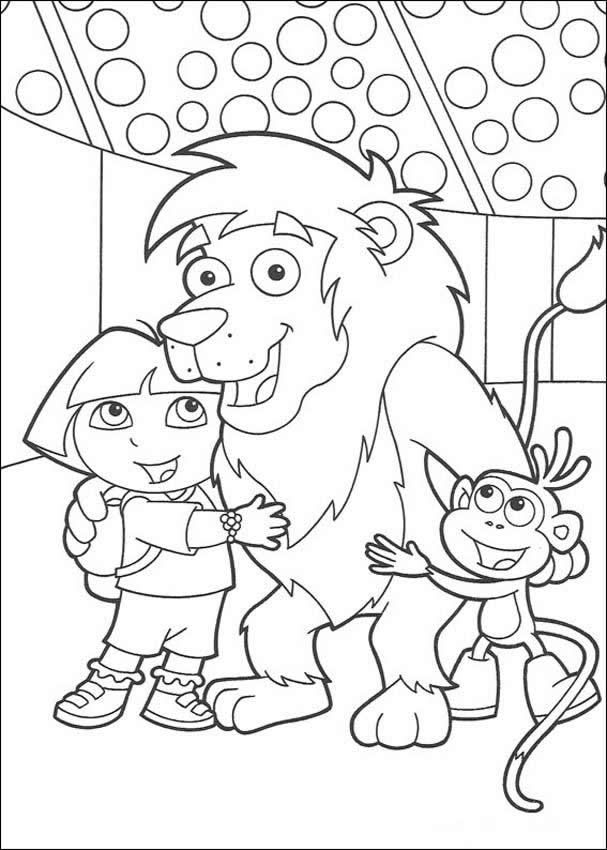 Dora the Explorer with her friends coloring sheet. More coloring ...