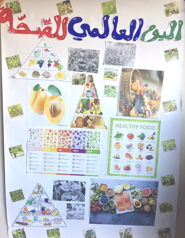 لوحة للاطفال عن اليوم العالمي للصحة World Health Day Poster For School Project For Kids Funny Health Quotes Health Quotes Motivation Health Insurance Humor