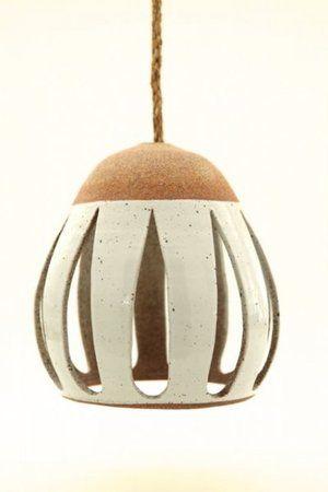 Heather Levine Ceramics Ceramic Pendant Light Hanging Pendants Ceramic Lamp