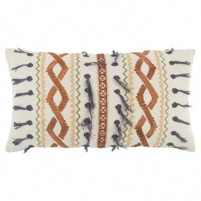 Eton Decorative 100 Cotton Lumbar Pillow