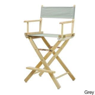 Stupendous Natural Finish 24 Inch Directors Chair Dark Blue Lamtechconsult Wood Chair Design Ideas Lamtechconsultcom