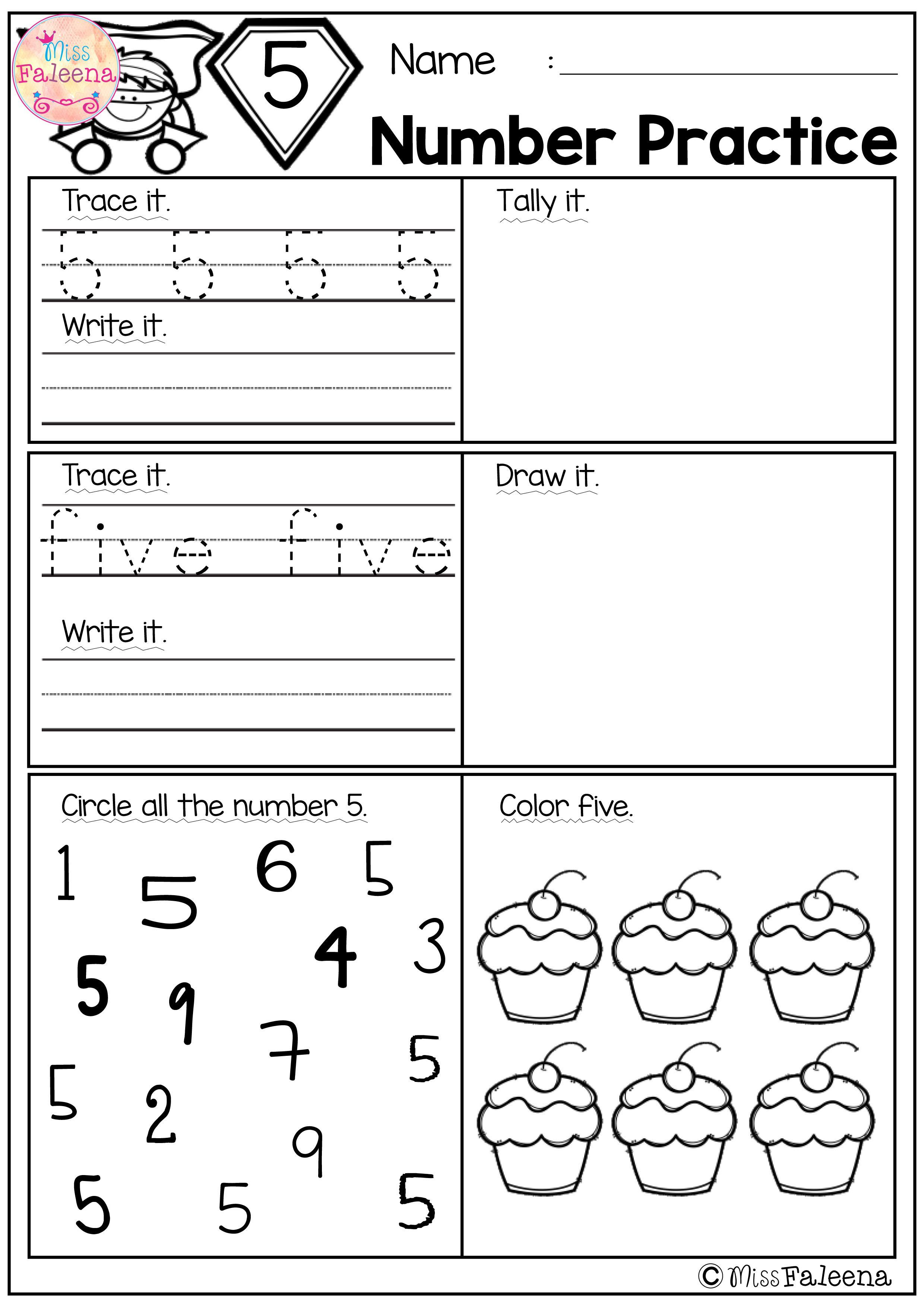 Free Number Practice These Pages Are Great For Pre K