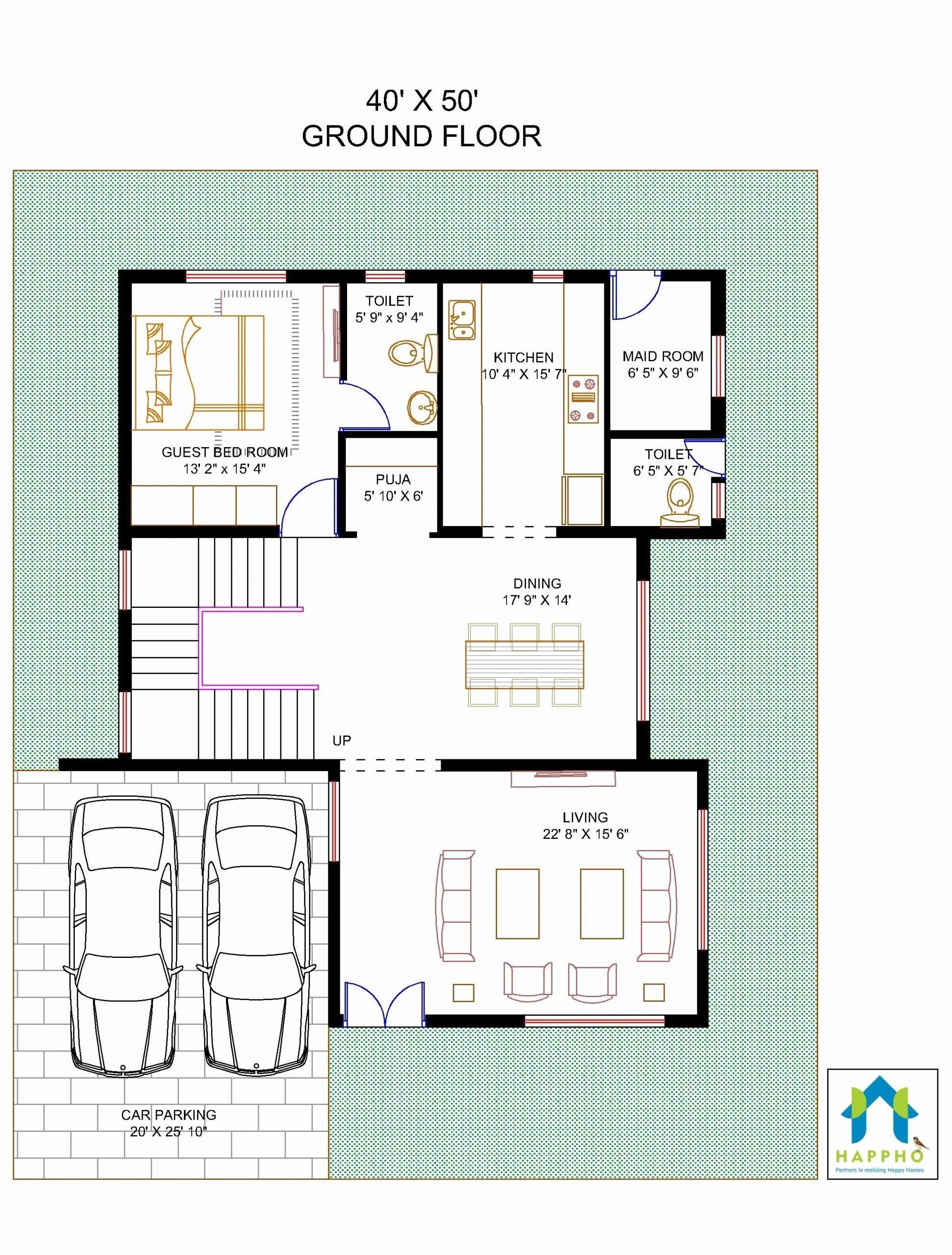 40 X 50 House Plans Best Of Floor Plan For 40 X 50 Feet Plot Kayleighdickinson Best Square House Plans Basement House Plans House Plans