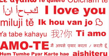 Wall-Decals.eu: Love You in Several Languages