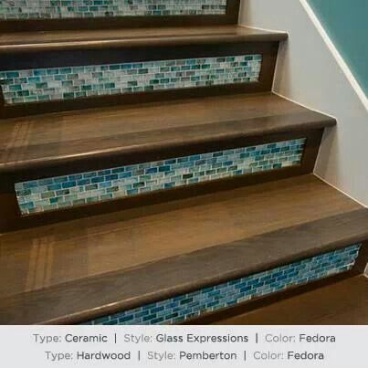 Best Glass Tile On Stair Risers Staircase Design Tile Stairs 640 x 480