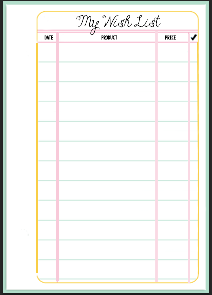 Filofax Wish List Printable – Wish List Templates