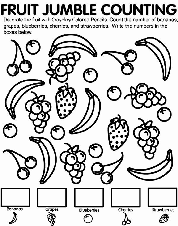 Fruits Coloring Worksheets for Kindergarten Luxury K Cc 5