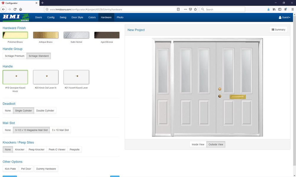 Did you know that you can design an entry door and preview ...