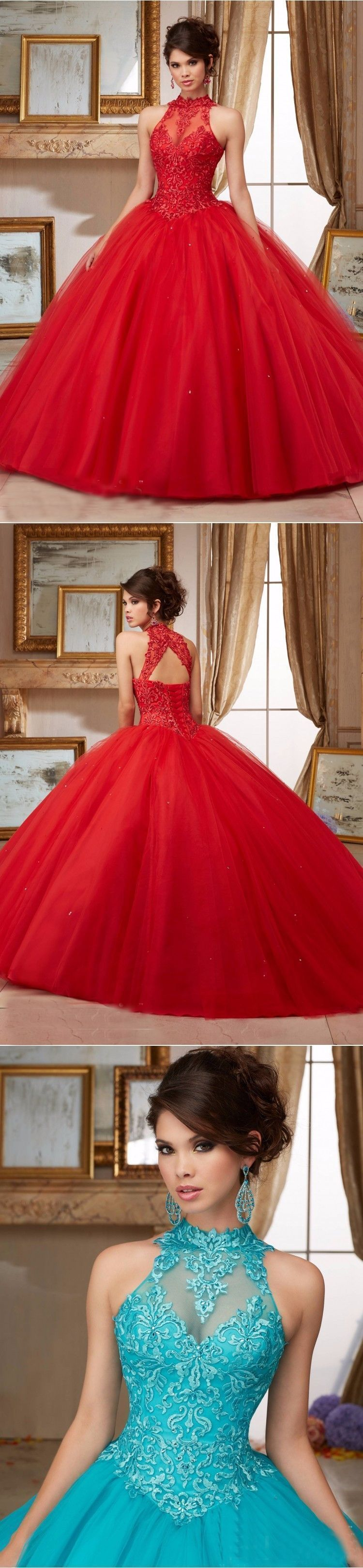 Red wedding dresses no risk shopping new ball gown high collar