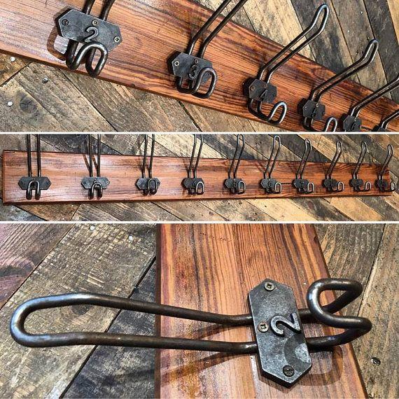 Vintage Old Wire School Coat Hook Rack Industrial Wall Plaque