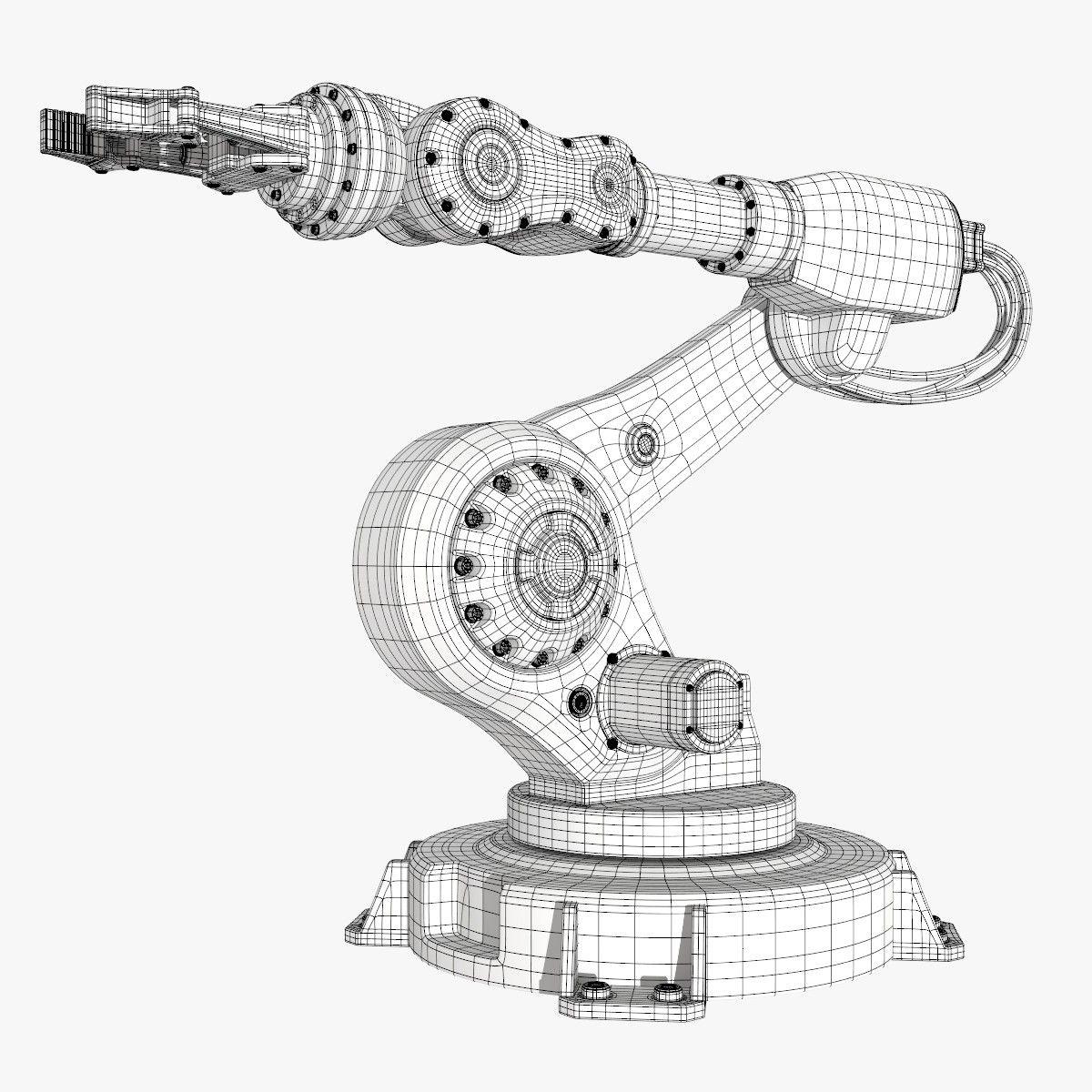 Fbx Industrial Robot Modeled Inspirational