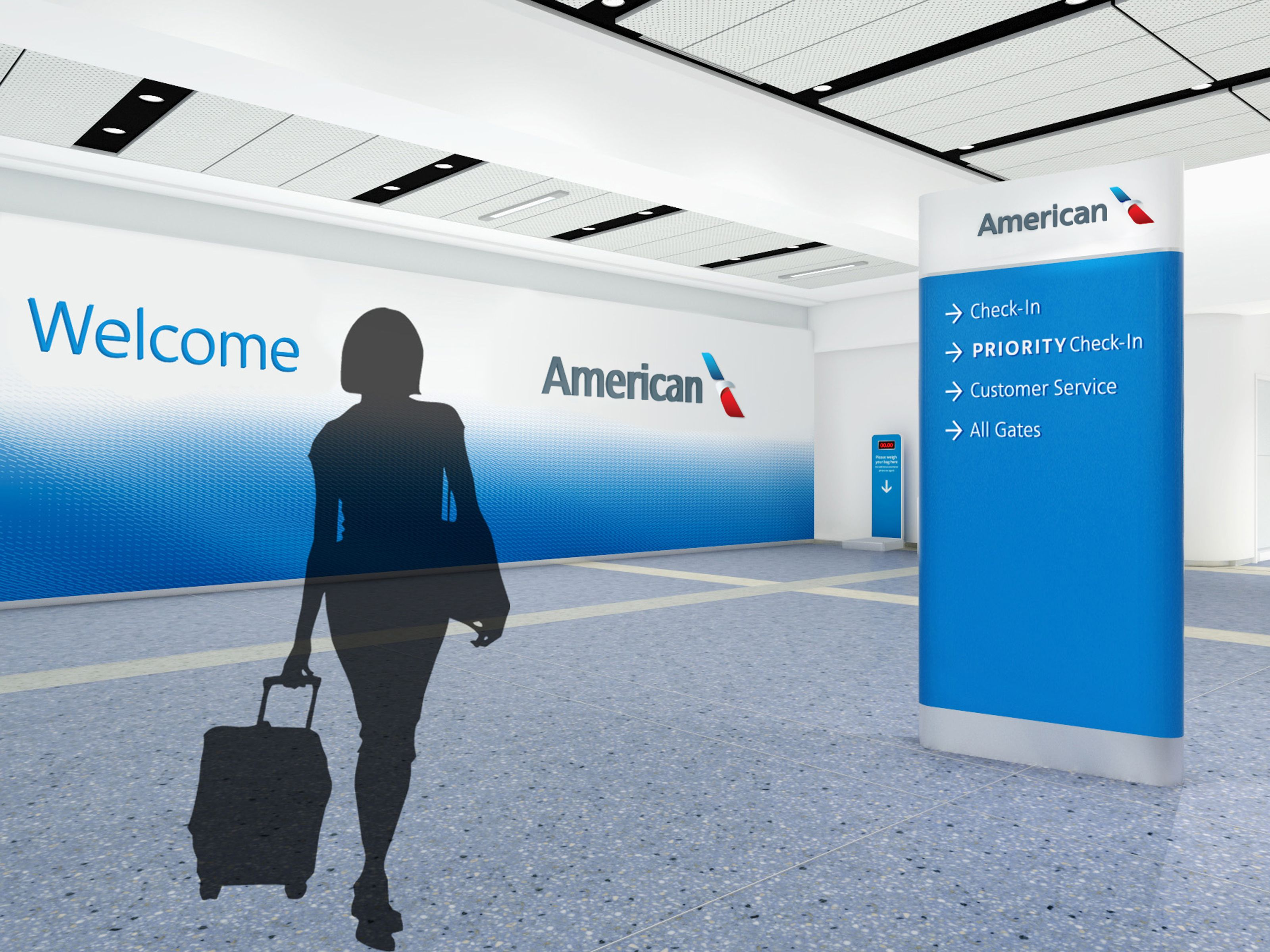 American Airlines Check In Rendering Futurebrand