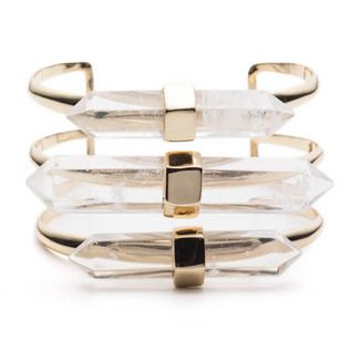 Alexis Bittar, Faceted Rock Crystal Cuff