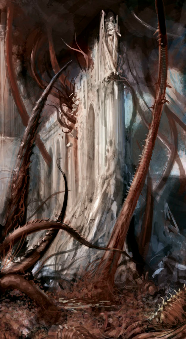 WH40k: World subjugation by Tyranids.The Capillary Towers gather ...