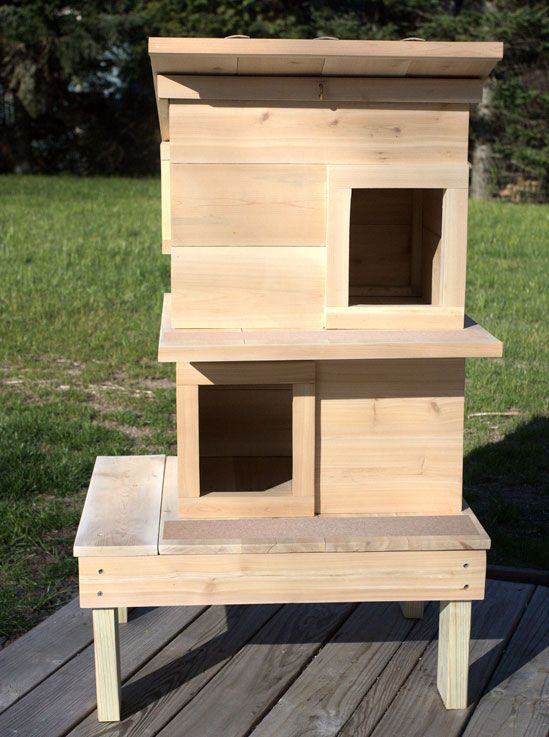 Raised Outdoor Cat House Double Deck Cat House Diy Feral Cat Shelter Feral Cat House