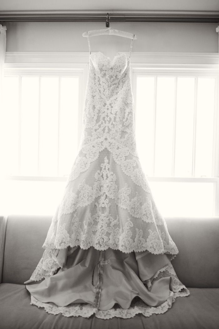 Brittany Chose A Strapless Lace Matthew Christopher Wedding Dress