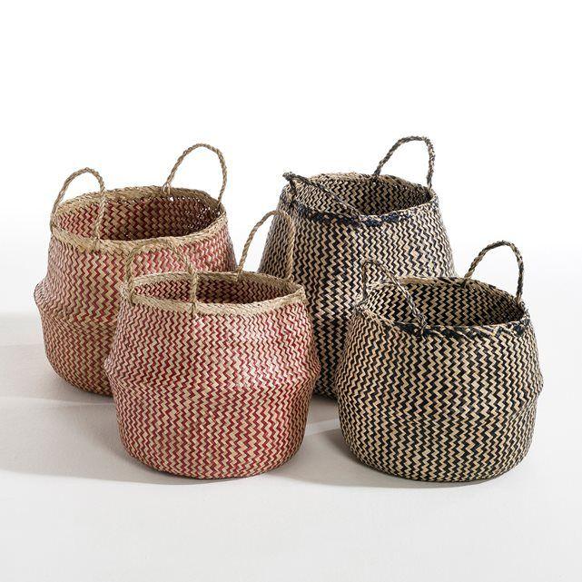 trebla hand crafted woven basket am pm la redoute. Black Bedroom Furniture Sets. Home Design Ideas