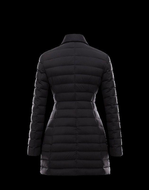 jacke sale Moncler Damen NOUES Mantel Schwarz Polyamid 16 17