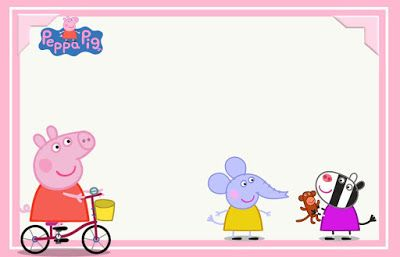 peppa pig and family free printable invitations labels or cards