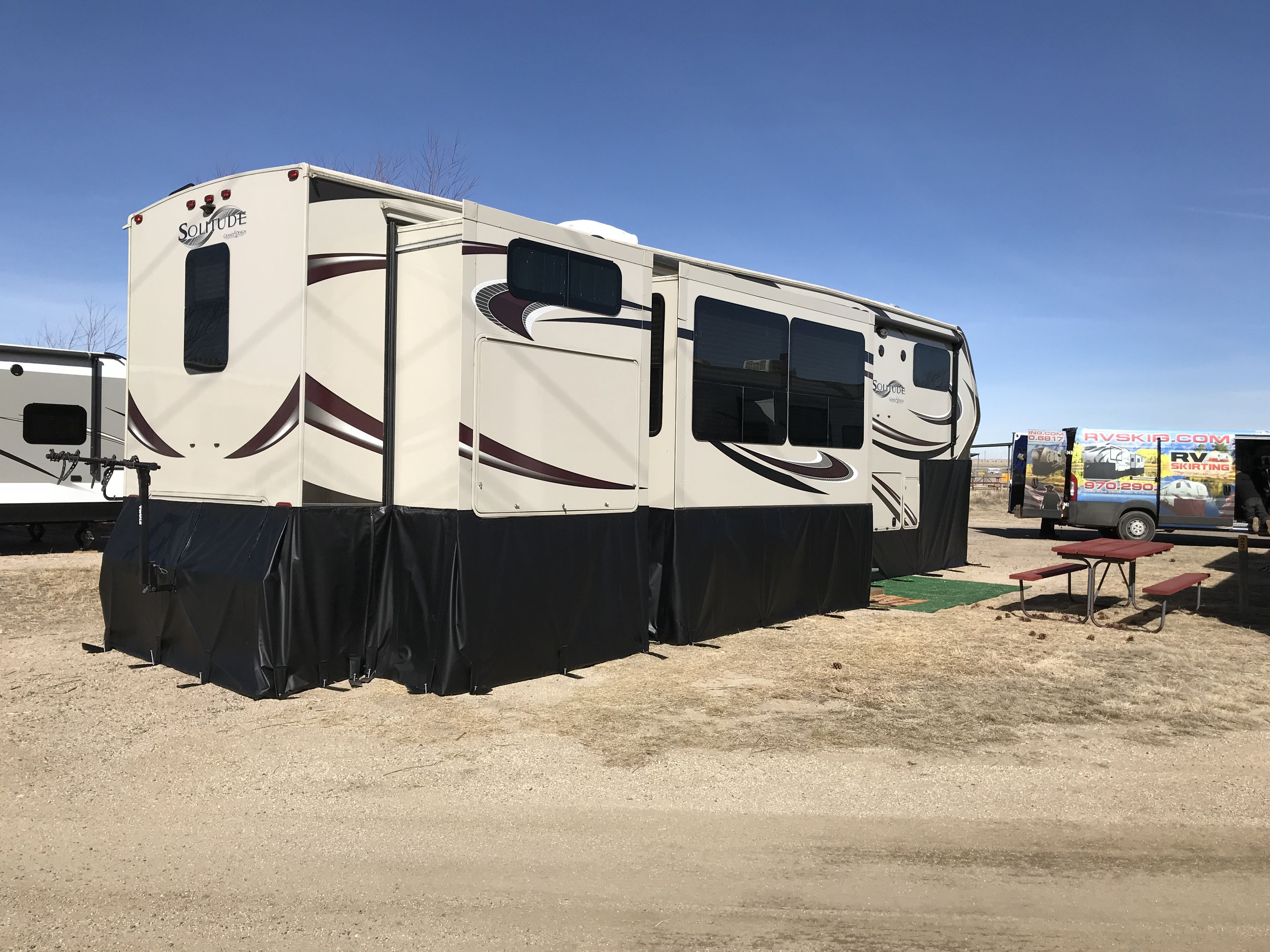 Warm In The Winter Cool In The Summer Save Propane We Have Made Tough And Rugged Rv Skirting Since 1994 A Rv Winterizing Rv Skirting Recreational Vehicles