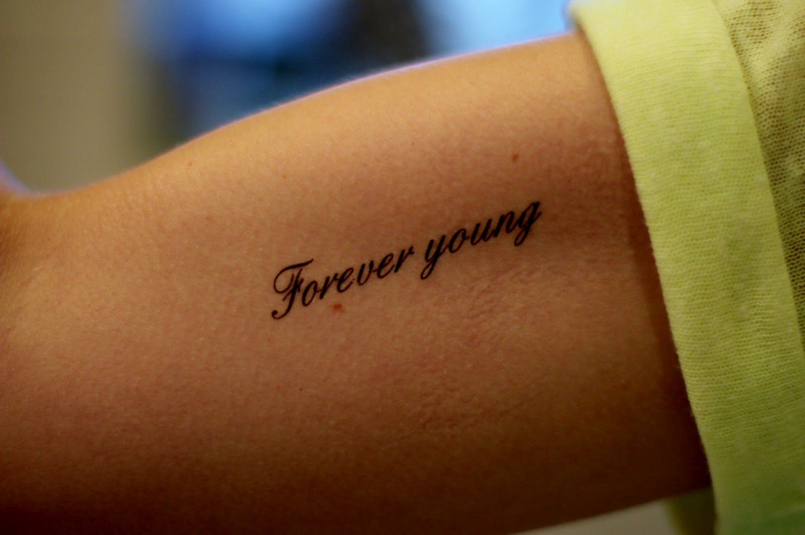 Forever young dylan like the font inked pinterest - Police ecriture tatouage ...