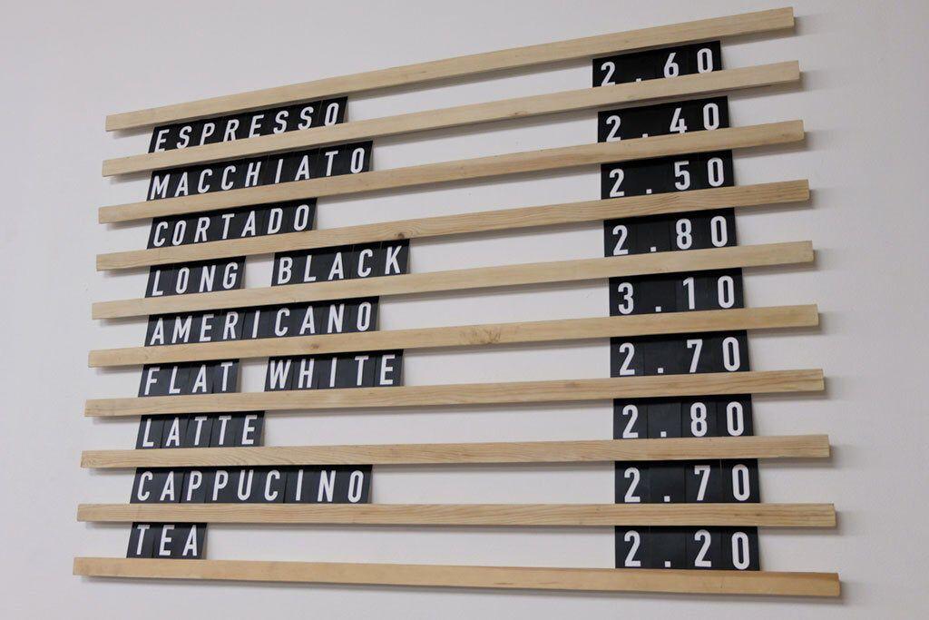 Interchangeable Letters On Wooden Rails Menu Board For Cafes Etsy Cafe Menu Boards Menu Board Menu Board Restaurant